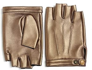YISEVEN - Men's Fingerless Lambskin Leather Gloves