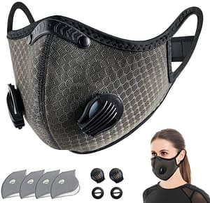 neovivi sport face cover with activated carbon filters
