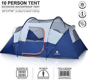 Camping Tent - HIKERGARDEN 10 Person Tent for Camping #1