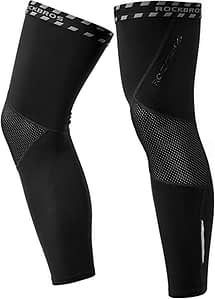 ROCK BROS Cycling Leg Warmers Thermal Long Leg Sleeves for Men Women Legwarmer