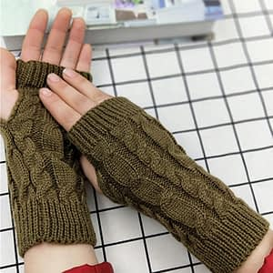 Kids Half Finger Biking Gloves wool