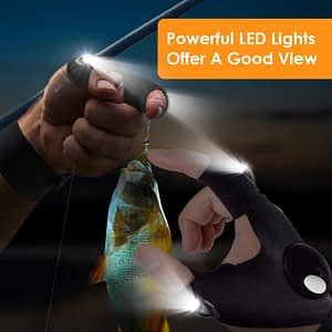 parigo led flashlight fingerless gloves