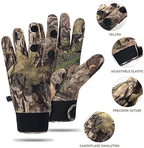 Ehemy Camo Hunting fingerless Gloves